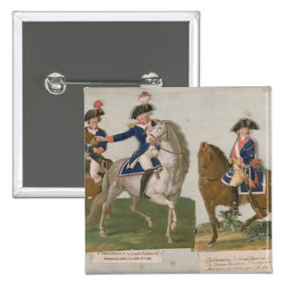 Comandante del ejército y un oficial pin cuadrada 5 cm