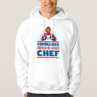 Comandante en cocinero pulóver con capucha