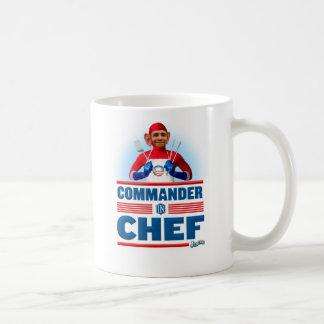 Comandante en cocinero taza básica blanca