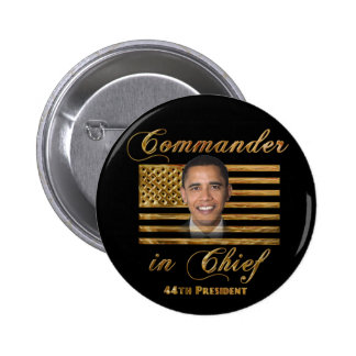 Comandante en jefe, Barack Obama Pin Redondo 5 Cm