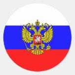 Comandante en jefe Of Rusia, Rusia Pegatina Redonda