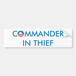 Comandante en ladrón pegatina para auto