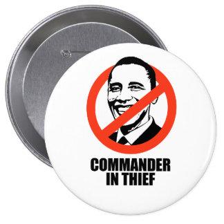 Comandante en ladrón pins