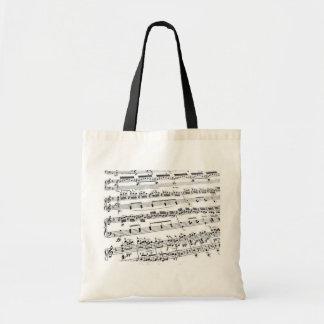 Comandante/estudiante/profesor de la música bolsa tela barata
