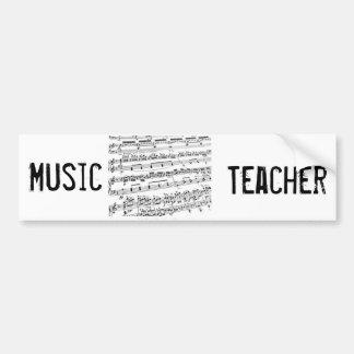 Comandante/estudiante/profesor de la música pegatina para auto