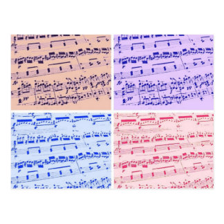 Comandante/estudiante/profesor de la música tarjetas postales