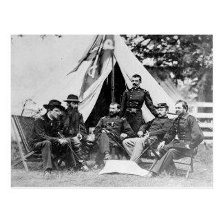 Comandante. Gen. Philip Sheridan y sus generales Postales