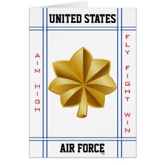 Comandante importante O-4 de la fuerza aérea Tarjeta De Felicitación