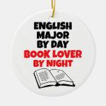 Comandante inglés del aficionado a los libros ornamentos de navidad