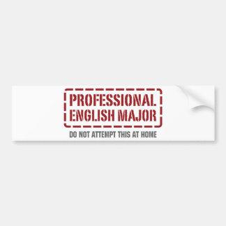 Comandante inglés profesional pegatina para auto