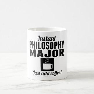 Comandante inmediato de la filosofía taza básica blanca