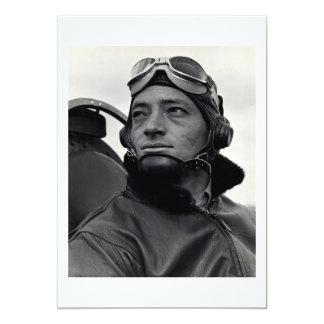 "comandante John Smith del as de WWII Marine Corp Invitación 5"" X 7"""