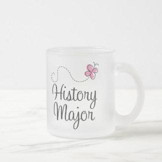 Comandante lindo regalo de la historia taza de cristal