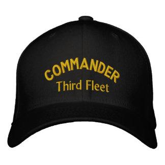 COMANDANTE, tercera flota Gorras Bordadas