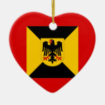 Comandante territorial del comando, bandera de adornos de navidad