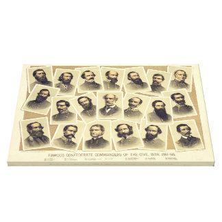 Comandantes confederados famosos de la guerra civi lona envuelta para galerías