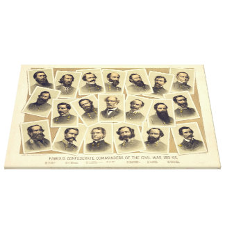 Comandantes confederados famosos de la guerra civi impresión en lona
