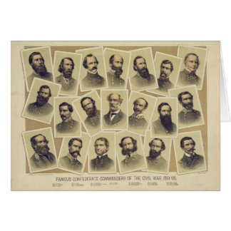 Comandantes confederados famosos de la guerra tarjeta de felicitación
