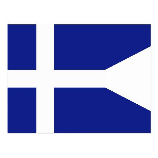 Comandantes de división reales griegos de la marin postales