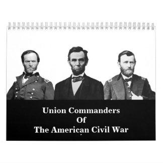 Comandantes de la unión de la guerra civil calendario