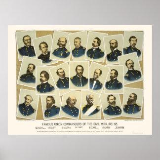 Comandantes famosos 1884 de la unión poster
