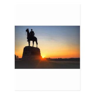 Comanding union General Meade at Sunrise Postcard