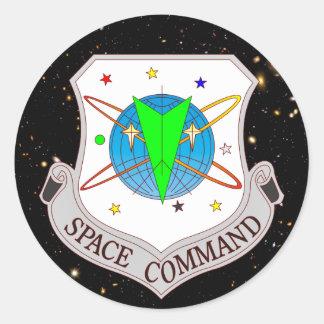 Comando 2,0 del espacio pegatina redonda