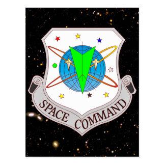 Comando 2,0 del espacio tarjeta postal