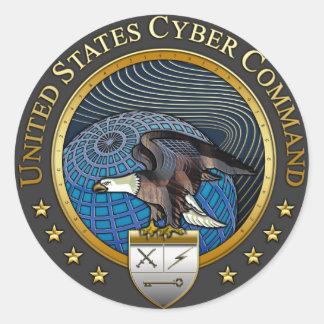 Comando cibernético de los E.E.U.U. Pegatinas Redondas