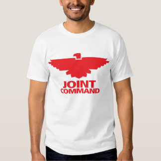Comando común (tinta blanca de w/red) polera