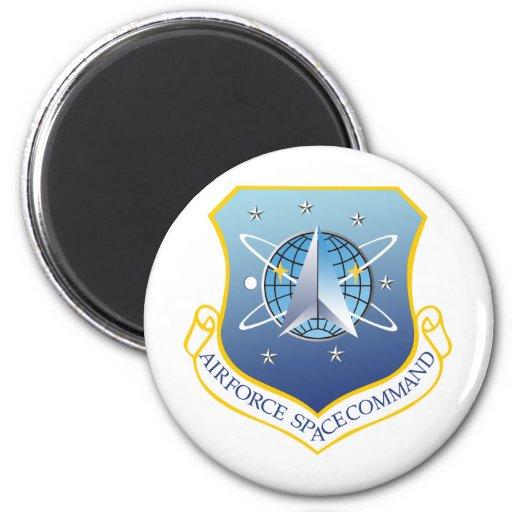 Comando de espacio de fuerza aérea imán redondo 5 cm