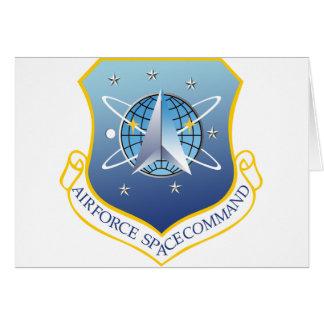 Comando de espacio de fuerza aérea tarjeta de felicitación