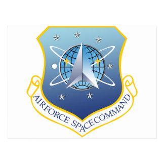 Comando de espacio de fuerza aérea tarjeta postal