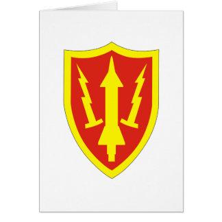 Comando de la defensa aérea del ejército tarjeta de felicitación