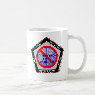 Comando de la reinvención de la rueda tazas de café