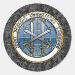 Comando de operaciones especiales común pegatina redonda