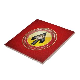 Comando de operaciones especiales del USMC Azulejo Cuadrado Pequeño