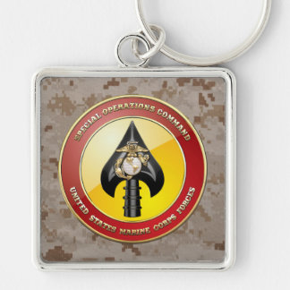 Comando de operaciones especiales del USMC Llavero Cuadrado Plateado