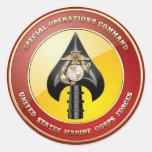 Comando de operaciones especiales del USMC (MARSOC Pegatinas Redondas