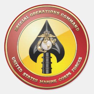 Comando de operaciones especiales del USMC MARSOC Pegatinas Redondas