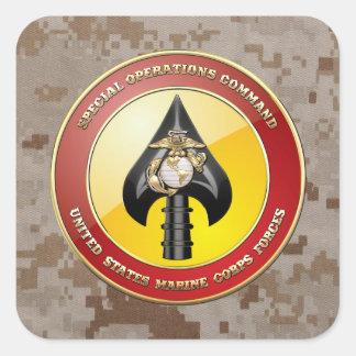 Comando de operaciones especiales del USMC Pegatina Cuadrada