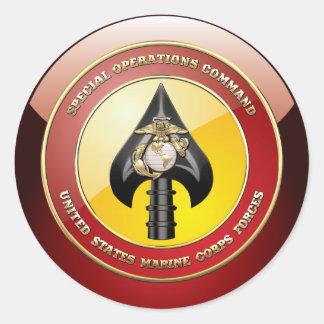 Comando de operaciones especiales del USMC Pegatina Redonda