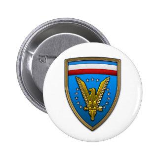Comando del europeo de los E.E.U.U. Pin Redondo De 2 Pulgadas