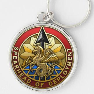 Comando del transporte de los E.E.U.U. Llavero Redondo Plateado