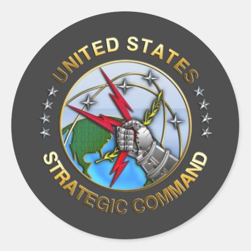Comando estratégico de Estados Unidos Pegatina Redonda