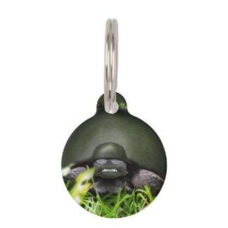 Comando lento - tortuga del ejército placa de mascota