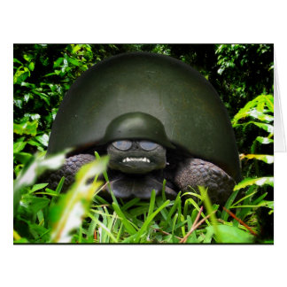Comando lento - tortuga del ejército tarjetas