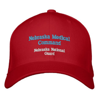 Comando médico de Nebraska Gorras De Béisbol Bordadas
