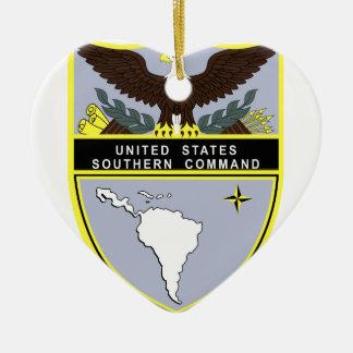 Comando meridional adorno navideño de cerámica en forma de corazón