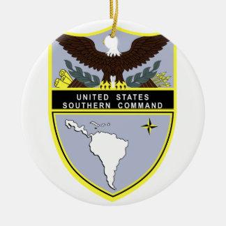 Comando meridional adorno navideño redondo de cerámica